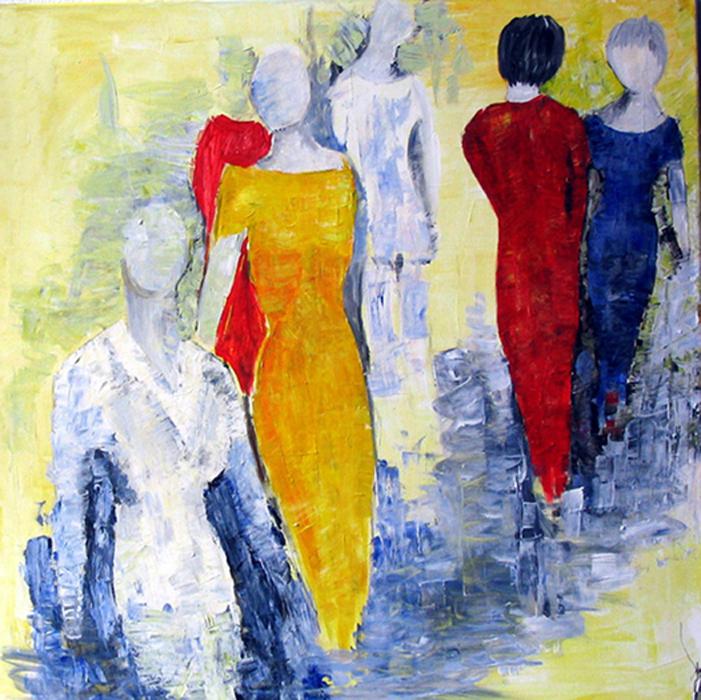 acryl - canvas - 80 x 80 cm