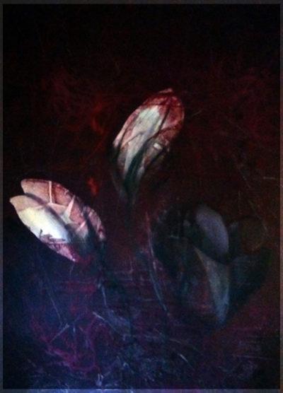 Blume Acryl auf Leinwand