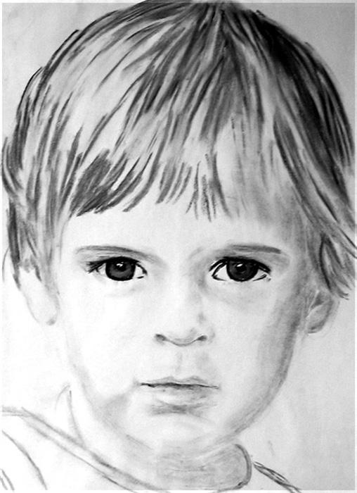 Kind Kreide auf Papier